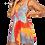 Thumbnail: Dye Cami Cross Back Dress