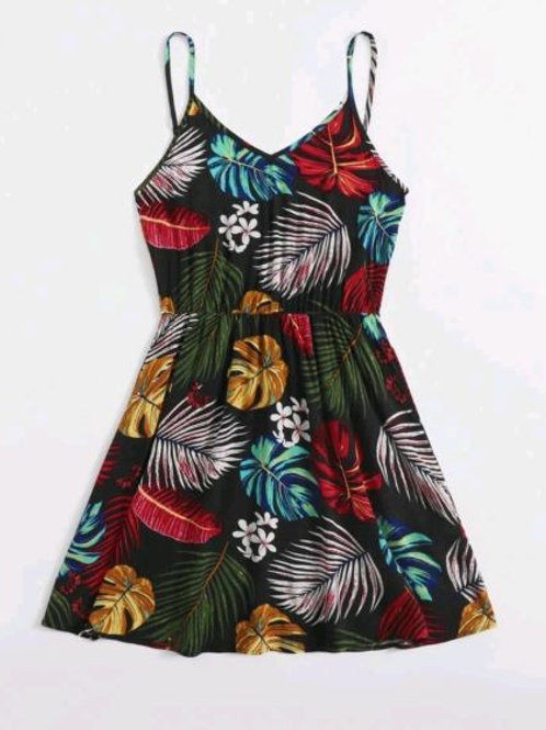 Tropical Boho Cami Dress