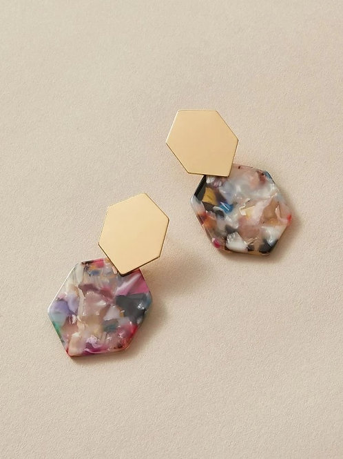 Color Hex Earring Set