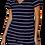 Thumbnail: V-Neck Navy Striped Tee Dress