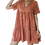 Thumbnail: Coral Over All Canoy Dress