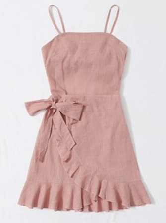 Open Back Ruffle Cami Dress