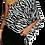 Thumbnail: One-shoulder Zebra Striped Blouse