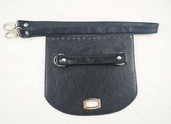 Καπάκι Τσάντας με Λουρί Μαύρο