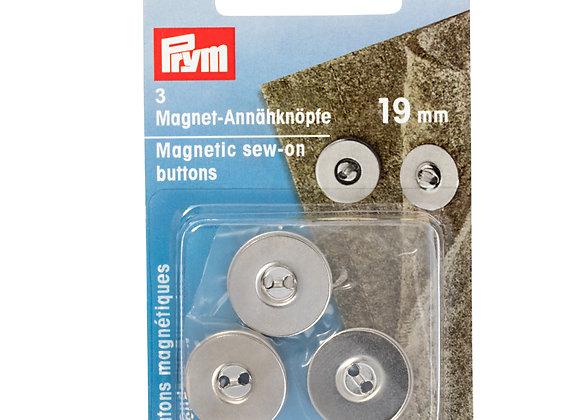 Μαγνητικά Κουμπιά Ραβόμενα 19mm Μπρονζέ