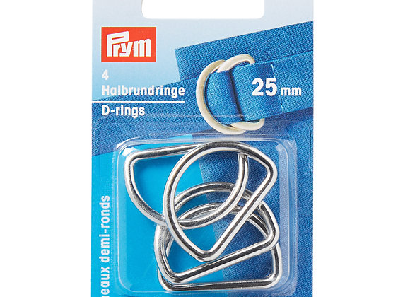 Κρίκοι D Prym 25mm Ασημί