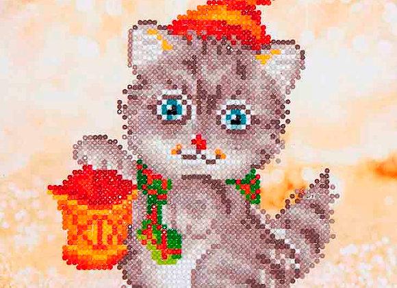 Christmas Kitten Glow