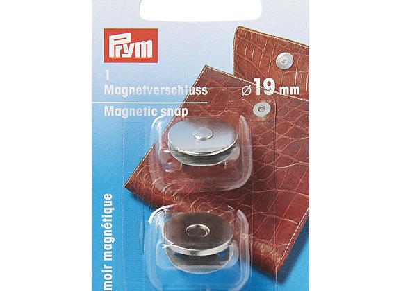 Μαγνητικό Κούμπωμα Τσάντας 19mm Ασημί