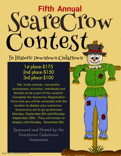2021 Scarecrow contest flyer