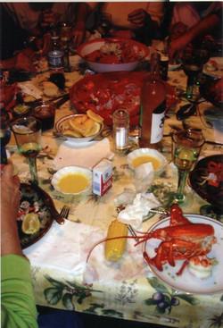 web lobster dinner