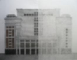 москва, гостиница москва, колистратов, архитектура, графика, искусство в интерьер