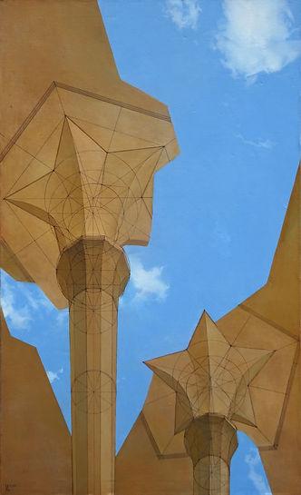 воздушные замки, колистратов, современный художник, искусство в интерьер, пейзаж, купить, москва, живопись