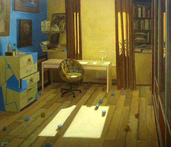 Красивая комната временно пуста, картина, колистратов, исусство в интерьер