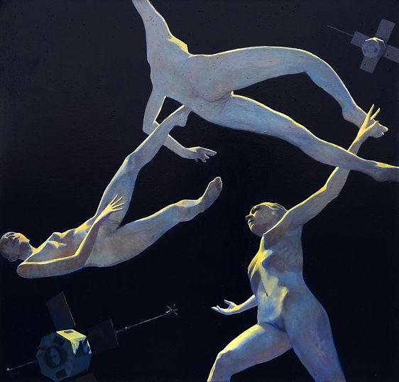 спутницы, колистратов, современный художник, искусство в интерьер, космос, купить, москва, живопись