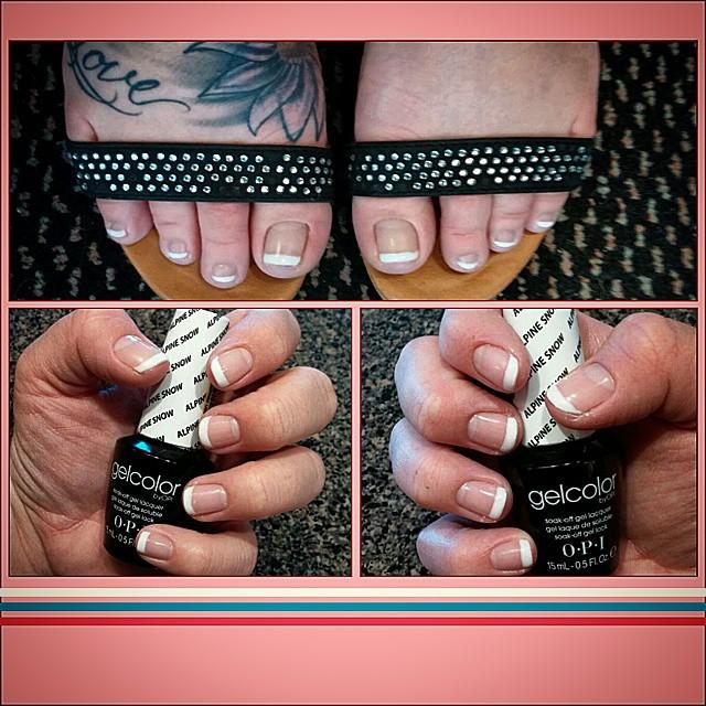 #didmyownnails #6months #pregnant #licensednailtech #gelpolish #frenchpolish #fingers #toes #gelish
