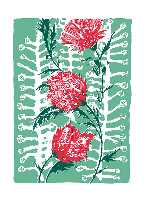 Good Thoughts Giclée Print in Green