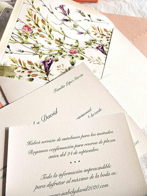 Invitación Flores de primavera
