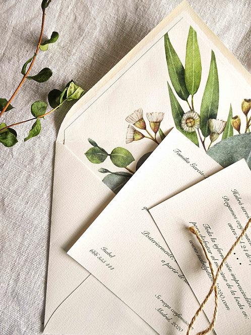 Invitación Flores de campo