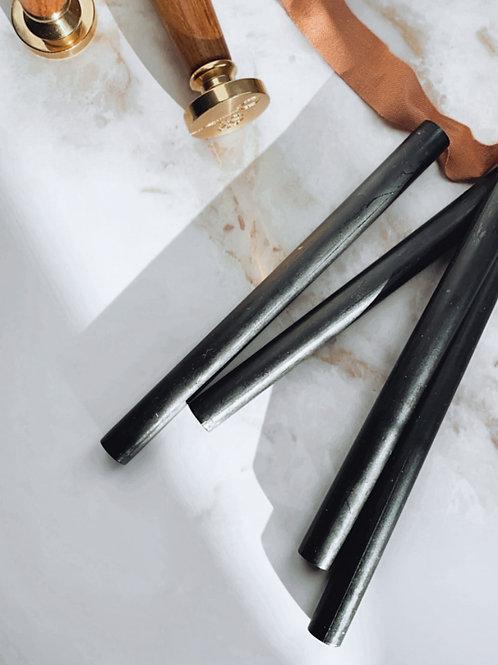 Barras de lacre color negro (pack de 4)