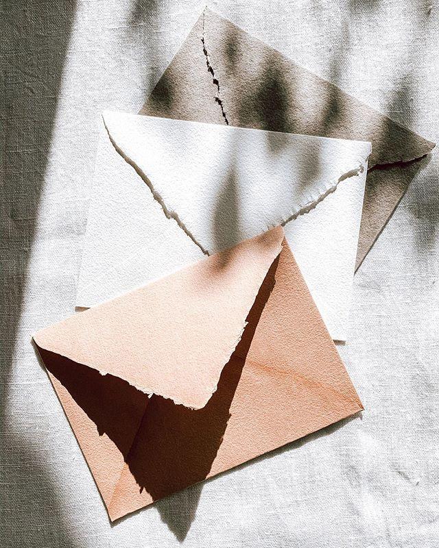 sobres de boda papel artesanal