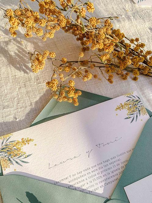 Invitación Mimosa