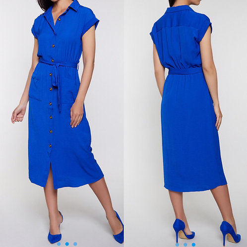 Woman Two Front Pocket Dress