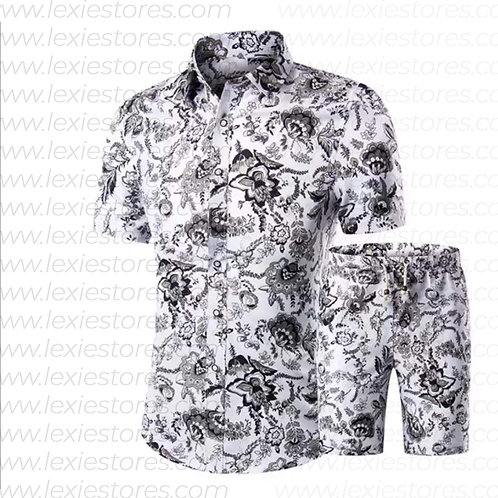 Men Printed Shorts Set