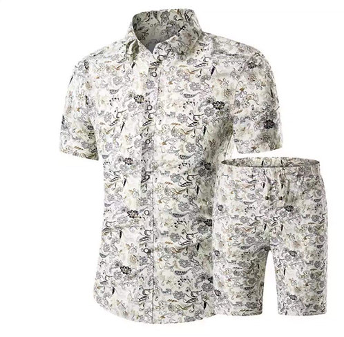 Men Printed Shorts Set