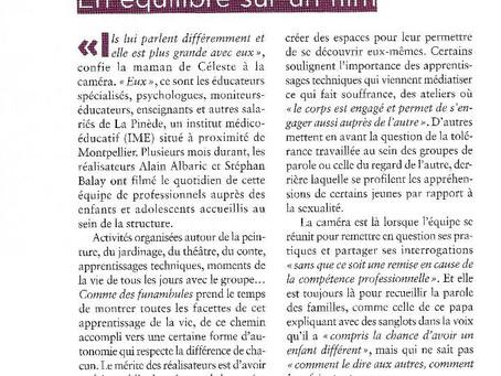 """Revue de presse """"Comme des funambules"""""""
