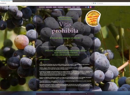 """Le site web de """"Vitis prohibita"""" est en ligne"""
