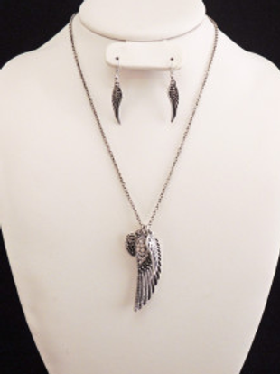 On Angel Wings - Silver