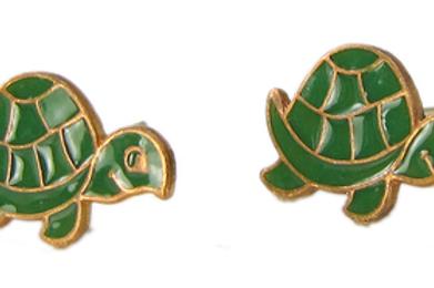 Green Turtle Studs