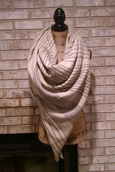 Cream Stitch Blanket