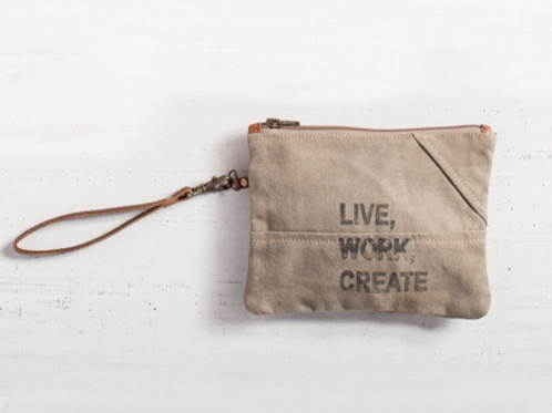 Live, Work, Create Pouch