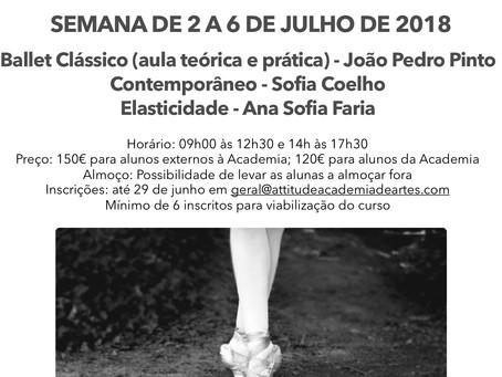 Curso de Dança 2 a 6 Julho