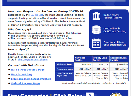 Main Street Lending Program at the U.S. Federal Reserve System