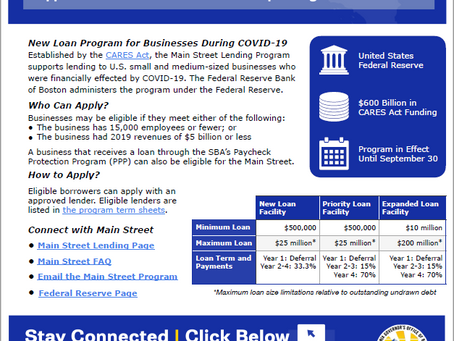 Main Street Lending Program at the U.S. Federal Reserve System