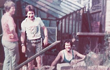Nick & Frank in garden