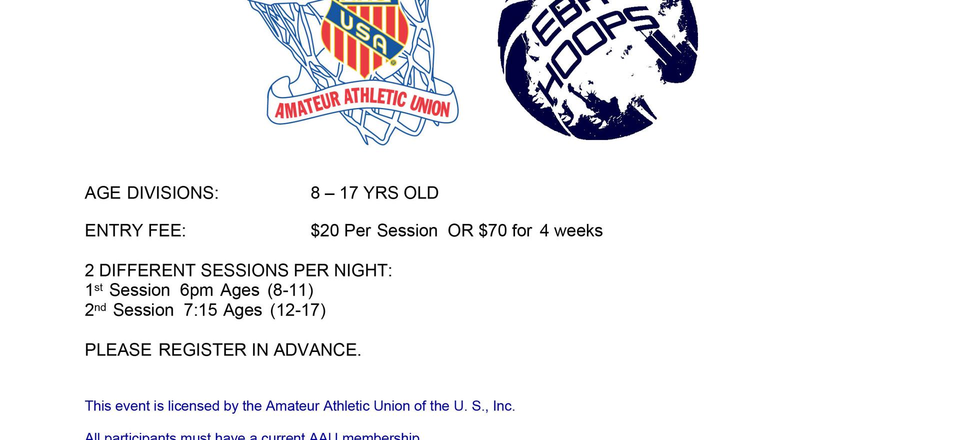 EBA Friday Night Hoops Training Clinic