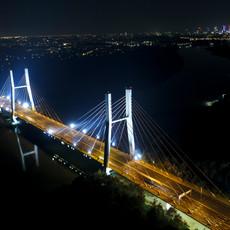 Most Siekierkowski z drona