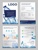Projekt ulotki wody mineralnej