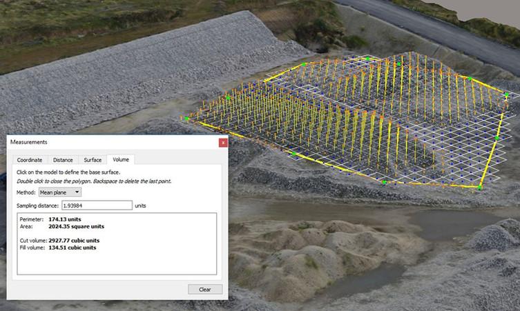 Chmura punktów Pomiary objętośći za pomocą drona