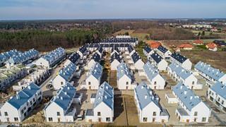 Zdjęcia osiedli mieszkanioweych z drona