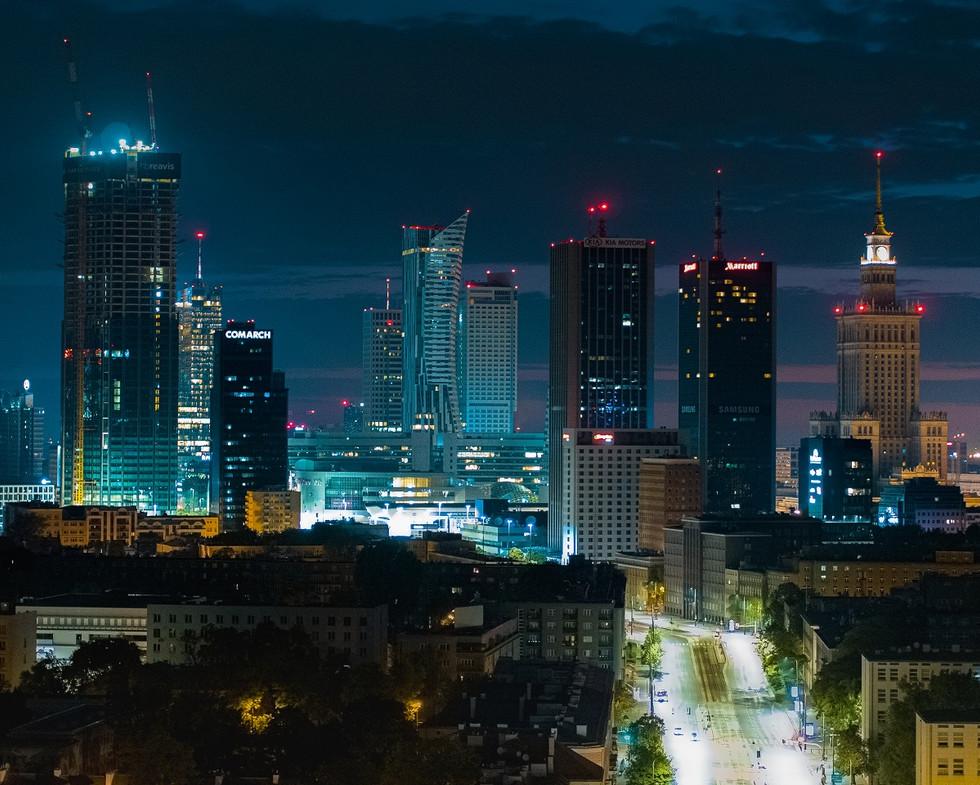 Centrum Warszawy z drona Inspire 2 X5S