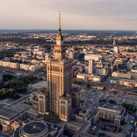 Pałac Kultury z drona