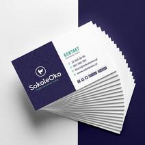 Projekt wizytówek dla firmy Sokole Oko