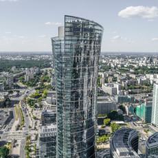 Warsaw Spire z drona 4K