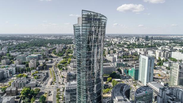 Warsaw Spire z drona