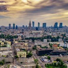 Panorama Warszawy z drona 4K