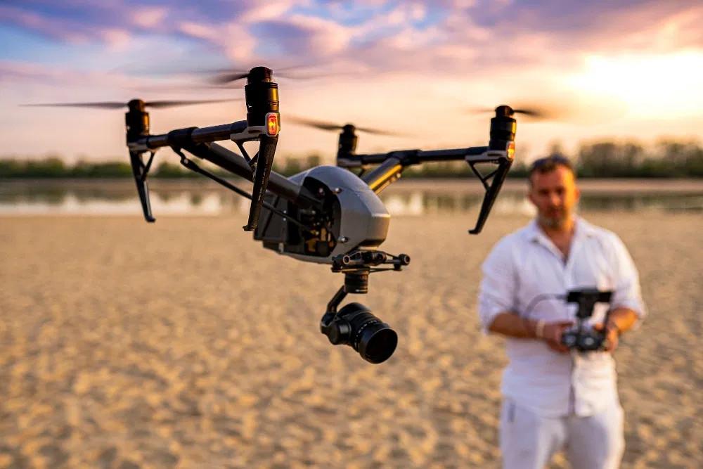 Operator drona Inspire 2 | Arkadiusz Bąba